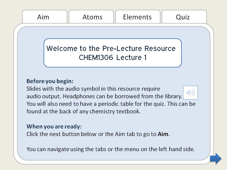 Pre-Lecture Resources Webinar 26 Jan 2011